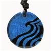 Amazing Handmade Fused Dichroic Glass Wave Pendant Round Design featuring a wave. The most unique Glass Jewelry in the market, one of a kind etching process gives us the ability to make unique silhouette designs. Great gift for any surfer. The...