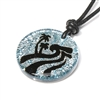 Beautiful handmade silver dichroic glass pendant featuring a North Shore Wave Art design. Great gift for any surfer. The picture on screen doesn't do this necklace justice!  Beautiful handmade Dichroic Glass Jewelry featuring The Oahu Hawaii north...