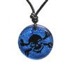 Skull Pendant Surfing Jewelry Dichroic Glass PendantBeautiful Handmade Dichroic Glass Pendant with Tattoo Skull Design. ZulaSurfing Dichroic Glass Blue Color is the most unique glass in the market. one of a kind etching process gives us the...