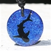 Tiger Shark or Great white shark Necklace silhouette shark image etched in fused dichroic Glass design by Zulasurfing studio. This pendant is Available in Blue or silver glass colors.  One of a kind etching process gives us the ability to make...