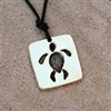"A beautiful hand carved pendant featuring a Hawaiian sea turtle symbol in pewter plated with Rhodium.Comes with a leather cord with an adjustable knot system which can be 13""-24"" long.Pendant size: 6/8"" L x 6/8"" WProudly Made In The U.S.A.All..."