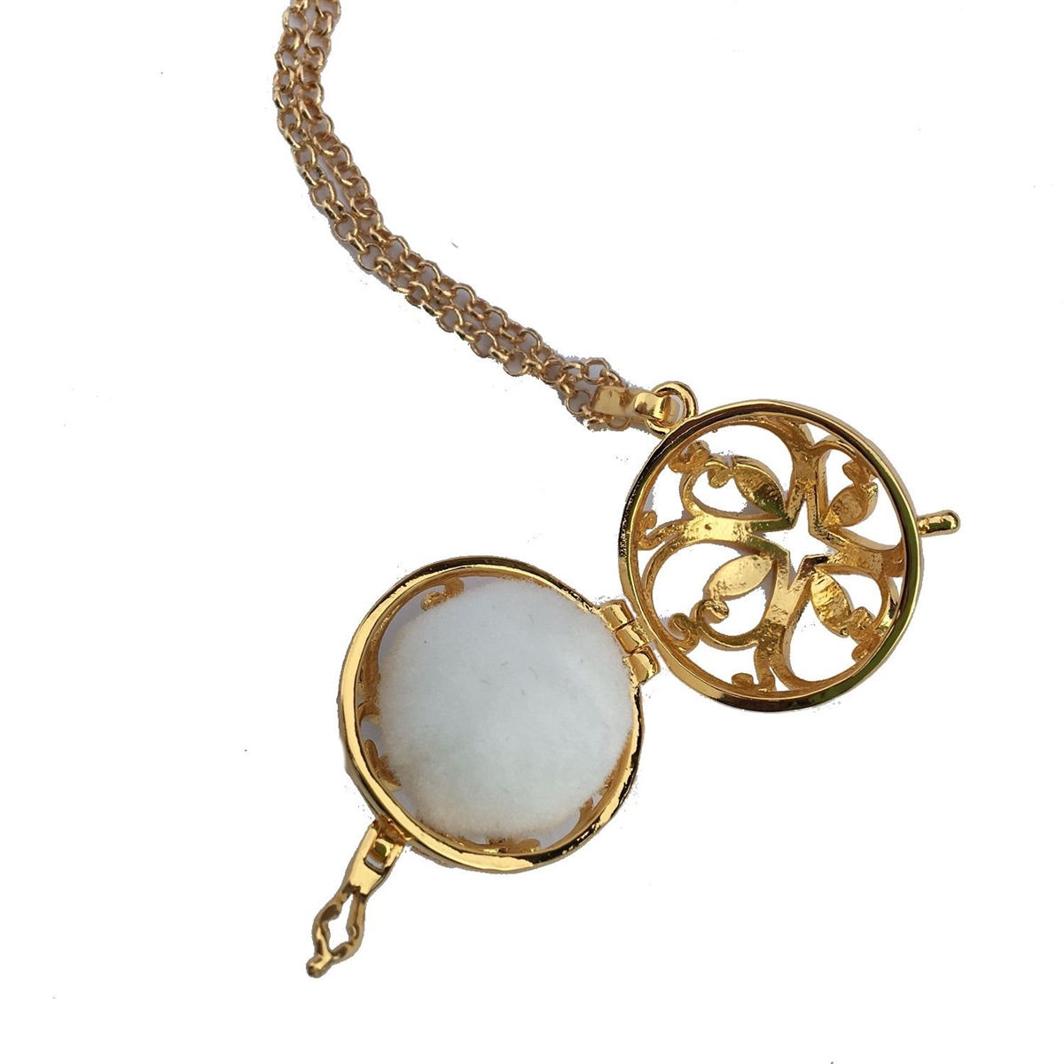 Aromatherapy Jewelry 26 Inch GOLD LEAF ESSENTIAL OIL NECKLACE