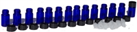 10 Aromatherapy Vials | Cobalt Blue Glass | Purify Skin Therapy
