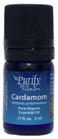 Certified Organic Premium Cardamom Essential Oil | Purify Skin Therapy