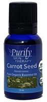 USDA Certified Organic Carrot Seed Essential Oil | 100% Pure Premium Grade | Purify Skin Therapy