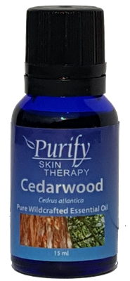 USDA Certified Organic Cedarwood Essential Oil | 100% Pure Premium Grade | Purify Skin Therapy
