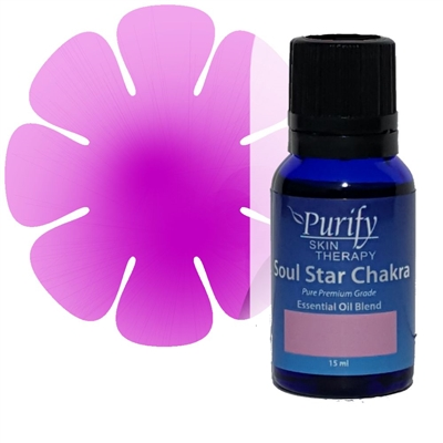 Chakra Soul Star Essential Oil Blend | Certified Pure Organic Essential Oil Blend | Purify Skin Therapy