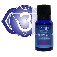 CHAKRA-THIRD-EYE, third eye chakra essential oil blend by purify skin therapy, powerful chakra essential oils, 100% pure, certified organic & wildcrafted essential oils