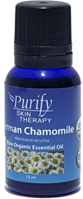German Chamomile Essential Oil Blend | Certified Pure Organic Essential Oil Blend | Purify Skin Therapy