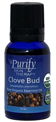 100% Pure Premium Grade, USDA Certified Organic Clove Bud Essential Oil by Purify Skin Therapy