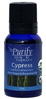 100% Pure Premium Grade, USDA Certified Organic Cypress Essential Oil by Purify Skin Therapy