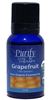 100% Pure Premium Grade, USDA Certified Organic Grapefruit Essential Oil by Purify Skin Therapy
