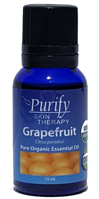 Certified Pure Premium Grade Grapefruit Essential Oil | USDA Certified | Purify Skin Therapy