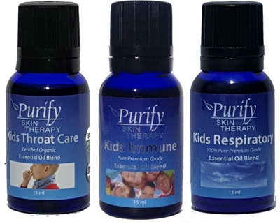 Lavender, Peppermint and Tea Tree Certified Organic & Wildcrafted Premium Oils | Purify Skin Therapy