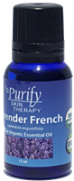 Certified Organic & Wildcrafted Premium French Lavender Essential Oil | Purify Skin Therapy