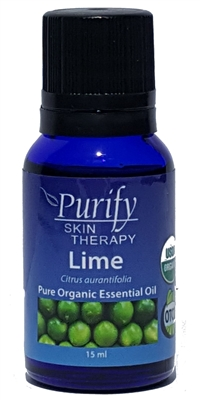 Certified Organic & Wildcrafted Premium Lime Essential Oil by Purify Skin Therapy