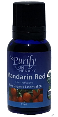 Certified Organic & Wildcrafted Premium Red Mandarin Essential Oil by Purify Skin Therapy
