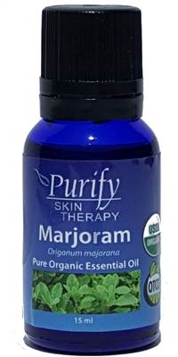 Certified Organic & Wildcrafted Premium Marjoram Essential Oil by Purify Skin Therapy