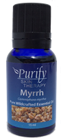 Certified Organic & Wildcrafted Premium Myrrh Essential Oil by Purify Skin Therapy