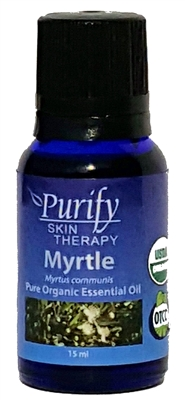 Certified Organic & Wildcrafted Premium Myrtle Essential Oil by Purify Skin Therapy