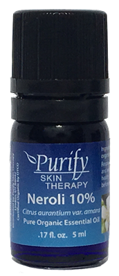 Certified Organic & Wildcrafted Premium Neroli 10% Essential Oil by Purify Skin Therapy