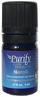 Certified Organic & Wildcrafted Premium Neroli Essential Oil by Purify Skin Therapy
