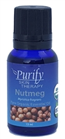 Certified Organic & Wildcrafted Premium Nutmeg Essential Oil by Purify Skin Therapy