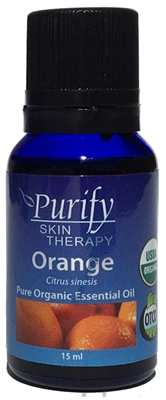 100% Pure Premium Grade, USDA Certified Organic Orange Essential Oil by Purify Skin Therapy
