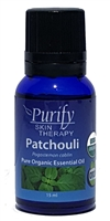 Certified Organic & Wildcrafted Premium Patchouli Essential Oil by Purify Skin Therapy