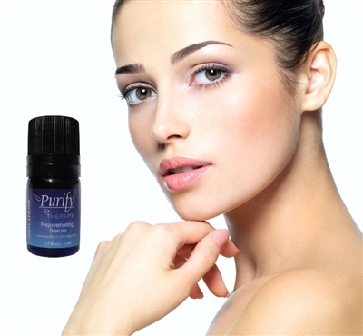 Certified Organic & Wildcrafted Premium Anti-Aging Essential Oil Blend |  Rejuvenating Serum by Purify Skin Therapy
