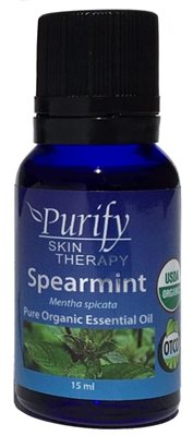 100% Pure Premium Grade, USDA Certified Organic Spearmint Essential Oil by Purify Skin Therapy