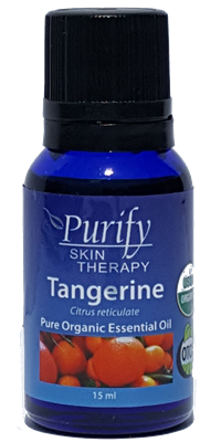 100% Pure Premium Grade, USDA Certified Organic Tangerine Essential Oil by Purify Skin Therapy