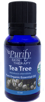 100% Pure Premium Grade, USDA Certified Organic Tea Tree Essential Oil by Purify Skin Therapy, Melaleuca, Melaleuca alternifolia