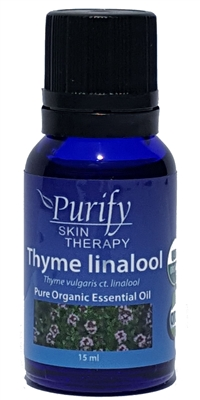 100% Pure Premium Grade, USDA Certified Organic Thyme ct. linalool Essential Oil by Purify Skin Therapy