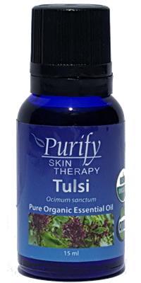 100% Pure Premium Grade, USDA Certified Organic Tulsi Essential Oil by Purify Skin Therapy