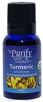 100% Pure Premium Grade, USDA Certified Organic Turmeric Essential Oil by Purify Skin Therapy