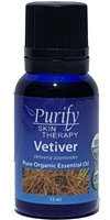 100% Pure Premium Grade, USDA Certified Organic Vetiver Essential Oil by Purify Skin Therapy