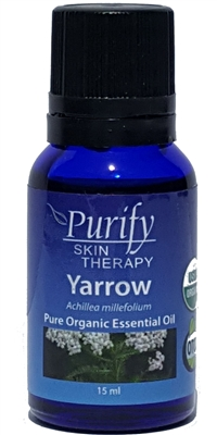100% Pure Premium Grade, USDA Certified Organic Yarrow Essential Oil by Purify Skin Therapy