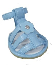 big dog sandals blue leather