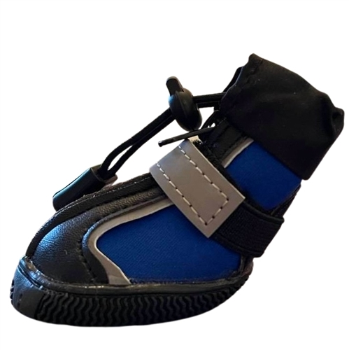 Black and Blue Waterproof Dog Snow or Rain Boots with