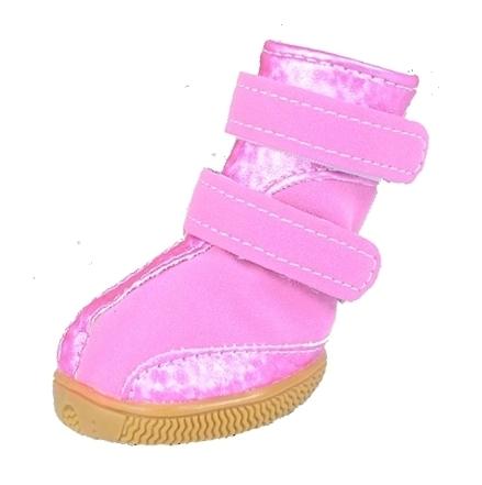 Pink Waterproof Winter Dog Booties