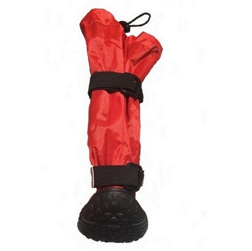 Red Hi-Toppers Tall Dog Boots for Snow and Rain  2743888f404e