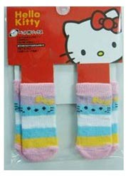 Hello Kitty Dog Socks - Red & White
