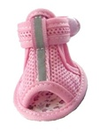 Mesh Reflective Dog Sandals - Pink - Size 1