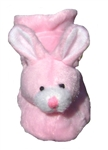 Pink Bunny Dog Slippers by Barko Booties - X-Small