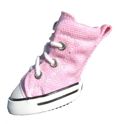 ee12d6249129 Pink Canvas Dog Athletic Shoes - Zoomies by Barko Booties ...