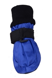 Soft Sole Waterproof Winter Dog Booties Blue