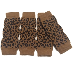 Dog Leg Warmers - Leopard Print - Tiny/Small