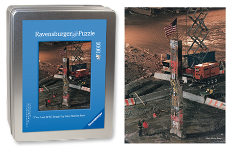 """The Last WTC Beam"" Puzzle <br/>1000-Pieces in a Collector's Tin<br/>Final Size: 27 in. x 20 in.<br/> Ravensburger Puzzles"