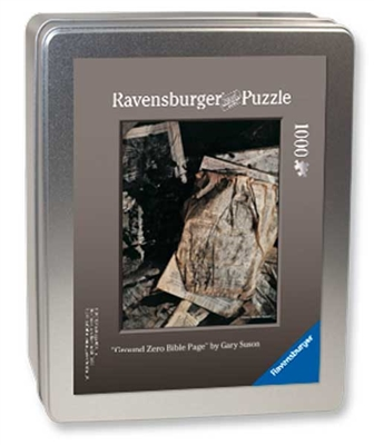 """The Ground Zero Bible Page"" Puzzle <br/>1000-Pieces in a Collector's Tin<br/> Final Size: 27 in. x 20 in.<br/> Ravensburger Puzzles"